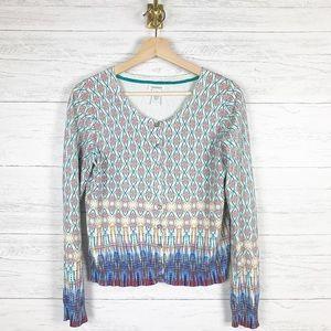 Sundance • Geo Print Cardigan Sweater